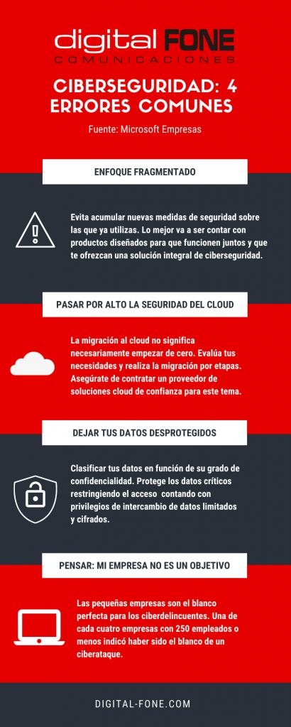errores en ciberseguridad, ciberseguridad canarias, conectividad canarias, infografía ciberseguridad, consejos en ciberseguridad